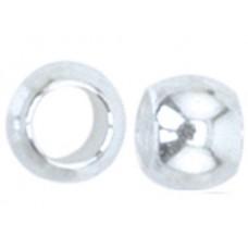 Bulk Bag Beadalon Crimp Beads, Size #0, Silver Plated