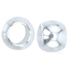 JFC2S-1Z Crimp Beads, Size #2 (2.5mm), Silver Plated, Large Pk