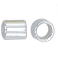 Beadalon JFCT2S-1.5G Crimp Tubes, Size #2, Silver Plated, Small Pack