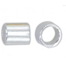 Beadalon JFCT2S-1Z Crimp Tubes, Size #2, Silver Plated, Large Pack
