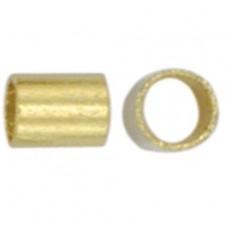 Beadalon JFCT2G-1Z Crimp Tubes, Size #2, Gold Plated, Large Pack