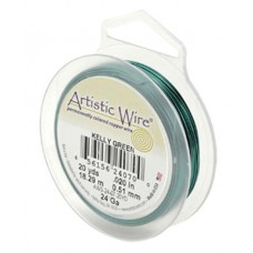 Kelly Green 18ga Artistic Wire, 10YD (9.1m)