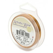 Natural 18ga Artistic Wire, 10YD (9.1m)