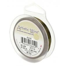 Beadalon 22 Gauge Artistic Wire, Olive, 15YD