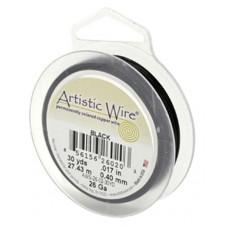 Black 24ga Artistic Wire, 20YD (18.2m)