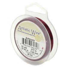 Burgundy 24ga Artistic Wire, 20YD (18.2m)