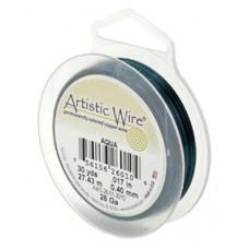 Beadalon 28ga Artistic Wire, Aqua, 40YD