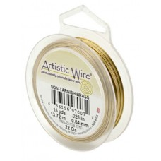 Beadalon 30ga Artistic Wire, Non-Tarnish Brass, 240m ( 787ft)