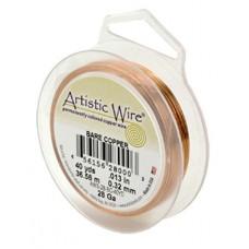 Beadalon 32ga Artistic Wire, Bare Copper, 100YD