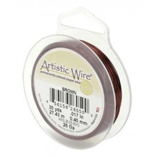 Brown 34ga Artistic Wire, 125YD