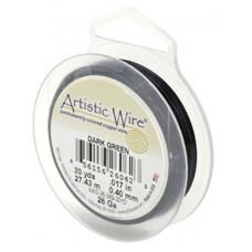 Dark Green 34ga Artistic Wire, 125YD