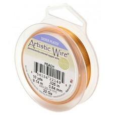 Peach 24ga Artistic Wire, 15YD (13.7m)