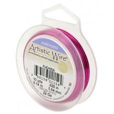 Fuchsia 24ga Artistic Wire, 15YD (13.7m)