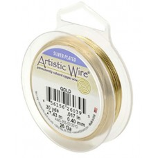 Gold Silver Plated 26ga Artistic Wire, 30YD (27.4m)