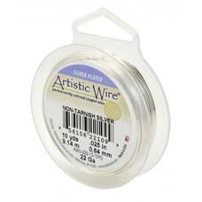 Tarnish-Resistant Silver 26ga Artistic Wire, 30YD (27.4m)