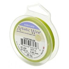 Chartreuse 28ga Artistic Wire, 40YD (36.5m)