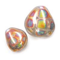 Nizan Pattern 12mm x 11mm Chunky Triangle Bead, Pack of 4