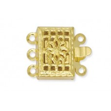 s Strand Beadalon Filigree Clasps, Gold, 6 Clasps