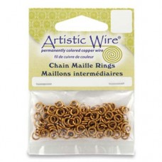 18GA Chain Maille Ring, I.D. 3.1mm, Natural, 180pcs, A314-18-10-04