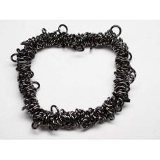 Elasticated  Sweetie Charm Bracelet, Gunmetal, 1 Pack