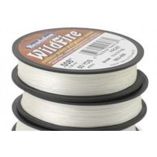 Frost White 0.15mm Wildfire beading thread, 161U-010, 114m spool