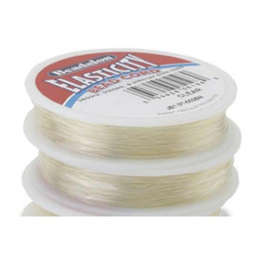0.5mm Clear Round Elasticity, 25m reel