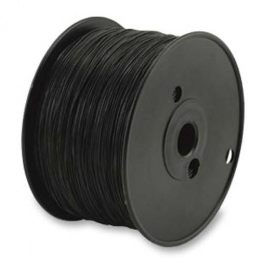 0.5mm Black Round Elasticity for jewellery stringing, 100m reel