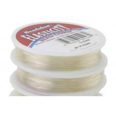 0.8mm Clear Round Elasticity, 5m reel