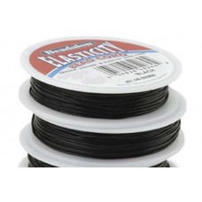 0.8mm Black Round Elasticity, 5m reel