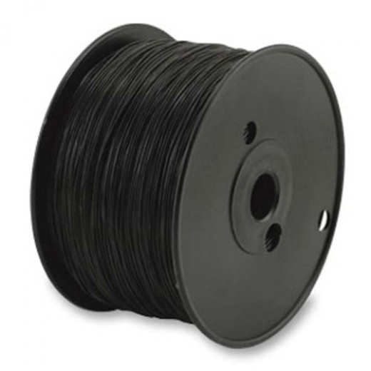 1 mm Black Round Elasticity, 100m reel