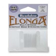 Elonga Elastic Thread, White, 0.3mm, 5M