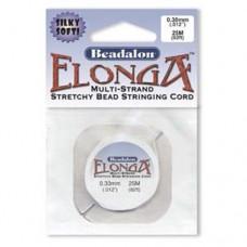Elonga Elastic Thread, White, 1mm, 25M