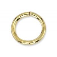 8mm Jump Rings, Gold, Pack of 144