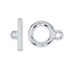 Beadalon Small Toggle Clasps, Silver, Pack of 2