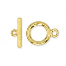 Beadalon Small Toggle Clasps, Gold, Pack of 2
