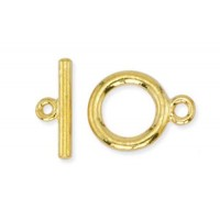 Beadalon Medium Toggle Clasps, Gold, Pack of 2