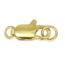12mm Gold Two Ring Lobster Clasp, Pack of 6