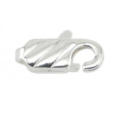 12mm Beadalon Silver Pattern Lobster Clasps, Pack of 12