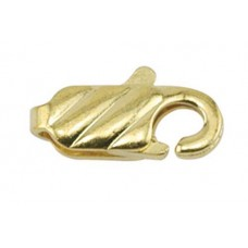 12mm Beadalon Gold Pattern Lobster Clasps, Pack of 12