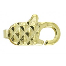 12mm Gold Diamond Lobster Clasps, Pack of 12