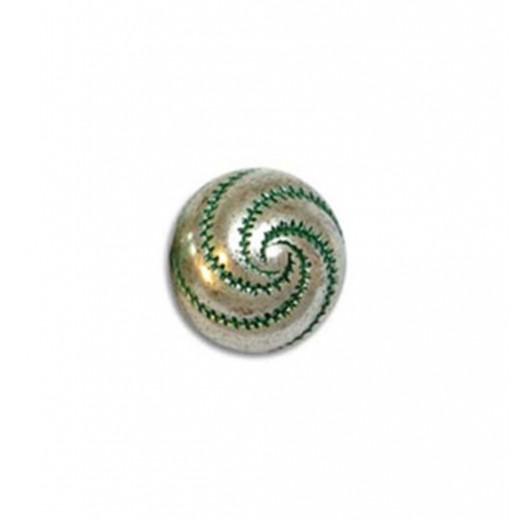 8mm Swirl Green Patina Bead, pack of 5