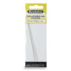Assorted 5 inch Collapsible Eye Needles, from Beadalon, 3 Pack. 700K-200