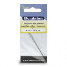 Collapsible Eye Needles, 2.5 Inch, Fine, 4 Pack from Beadalon