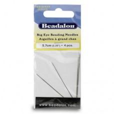 Beadalon JNEED2.25/4 Big Eye Needles, 2.25 Inch, 4 Pack