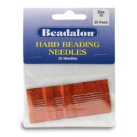 Size 10 Hard Beading Needles, 2.12 Inch, 25 Pack, from Beadalon