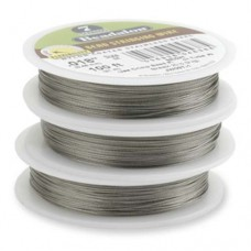 "Bright, 0.18"", 30ft Reel Beadalon 7 Strand  Beading Wire, JW03T-0"