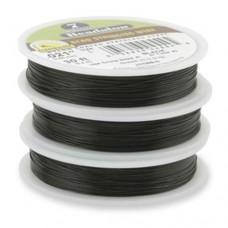 "Black 0.018"" 7 Strand Beadalon  Beading Wire, 30ft Reel, JW03B-0"
