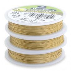 "Gold Colour 0.024"" 7 Strand Beadalon Beading Wire, 30ft Reel, JW06G-0"