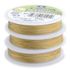 "Gold Colour 0.024"" 7 Strand Beadalon Beading Wire, 100ft Reel, JW06G-1"