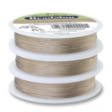 """Champagne Colour 0.018"""" Beadalon 7 Strand Beading Wire, 100ft Reel, JW03CH-..."""